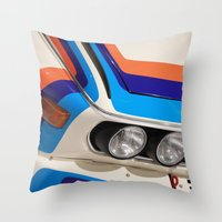 bmw Throw Pillows featuring BMW CSL by Internal Combustion