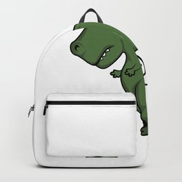 TRex dinosaur arms toilet funny gift Backpack