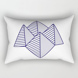 Paku Paku, navy lines Rectangular Pillow