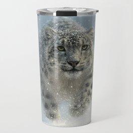 Snow Leopard - Snow Ghost Travel Mug