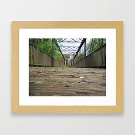 Rickety Railroad Bridge Framed Art Print