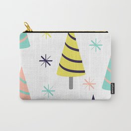 Colorful Christmas Trees Carry-All Pouch