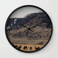 elk Wall Clocks featuring Elk by Al Robinson