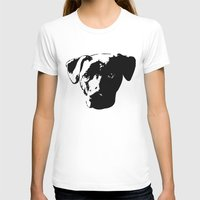 pit bull T-shirts featuring Lab Pit Bull by MIX INX