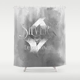 SILVER for the Demon Towers. Shadowhunter Children's Rhyme. Shower Curtain