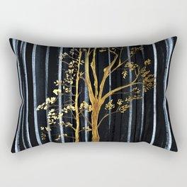 Golden Tree Rectangular Pillow