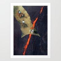 fog Art Prints featuring fog by tareco
