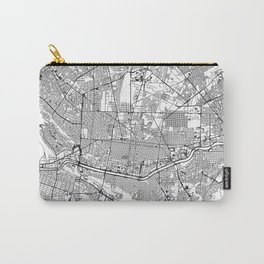 Monterrey City Map Mexico White and Black Carry-All Pouch