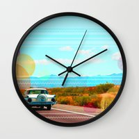 freedom Wall Clocks featuring Freedom by Kakel-photography