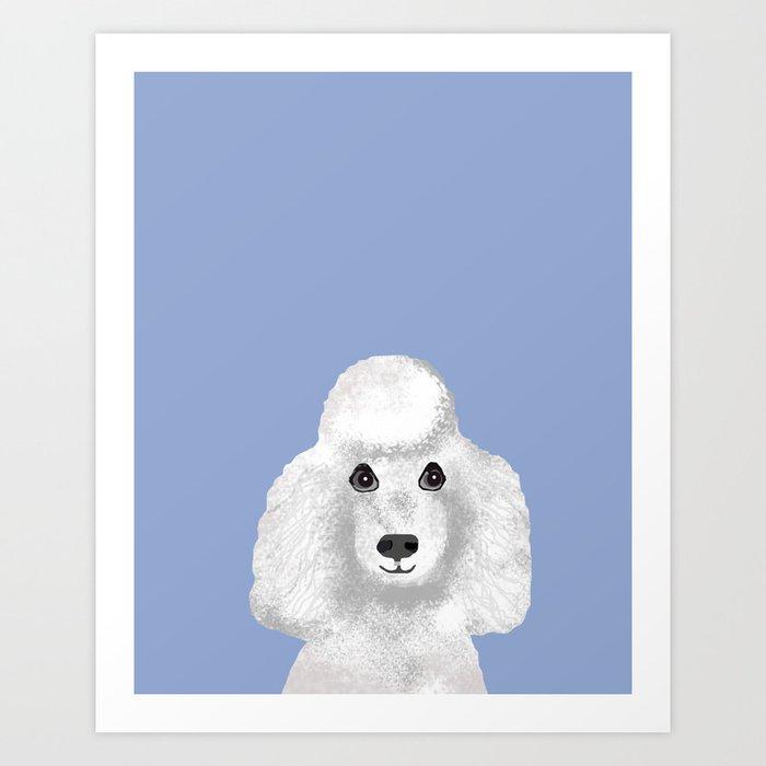 65722397b11c Toy Poodle white poodle pet portrait custom dog art dog breeds by pet  friendly Art Print