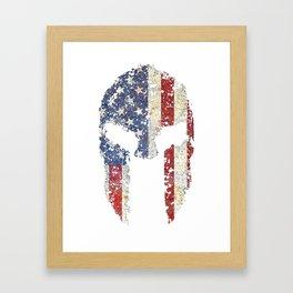 American Spartan Shirt Framed Art Print