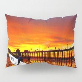 Surfer's Sunset * Huntington Beach, California Pillow Sham