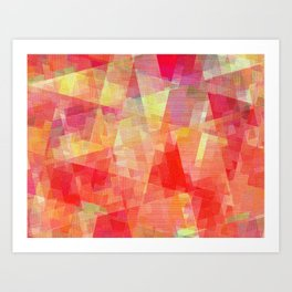 Red Angle Equations Art Print
