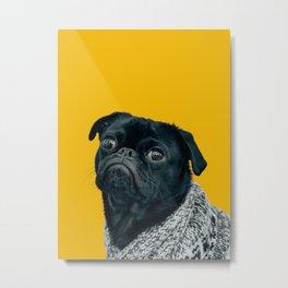 Pug Is Life Metal Print