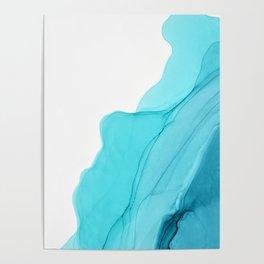 Aqua Ink Composition Poster