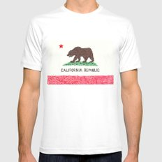 The California Republic Mens Fitted Tee MEDIUM White