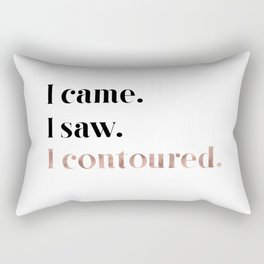 Rose gold beauty - I came, I saw, I contoured Rectangular Pillow