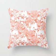 just goats flame orange Throw Pillow