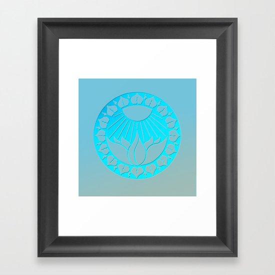 iliahni woodcut print Framed Art Print