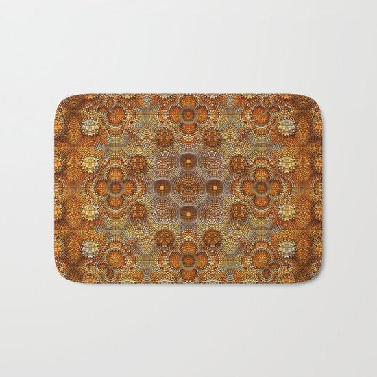 Golden Texture Bath Mat