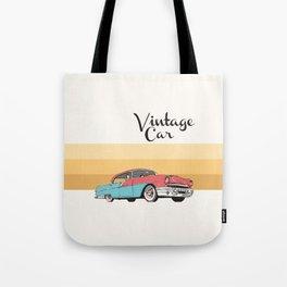 Vintage Car Illustration Tote Bag