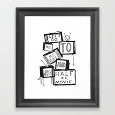 half of a movie Framed Art Print