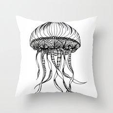 Jellyfish Octopus Creature Imaginitive  Throw Pillow