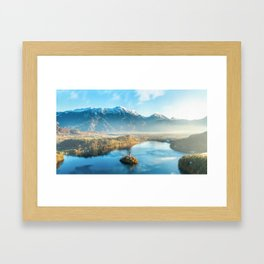 Lake Bled Slovenia Framed Art Print