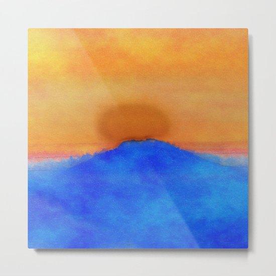 Blue landscape at sunset Metal Print