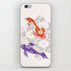 Purple and Orange Koi iPhone & iPod Skin
