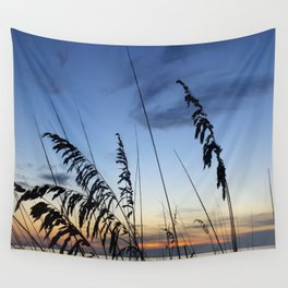 Sea Oats Silhouette Wall Tapestry
