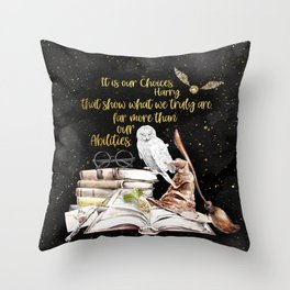 Our Choices - Golden Dust Throw Pillow