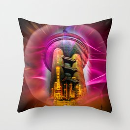 Shanghai Pearl Tower Throw Pillow