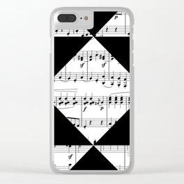 Black and White Music Clear iPhone Case