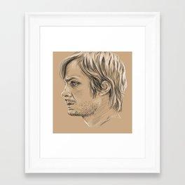 Gael García Bernal Framed Art Print