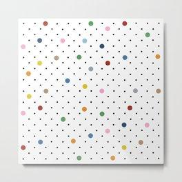 Pin Points Polka Dot Metal Print