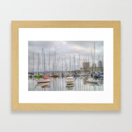 On a cloudy morning Framed Art Print