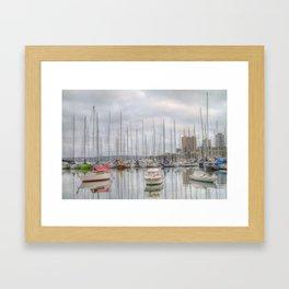 On a cloudy morning Framed Art Print