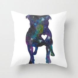 Galaxy Pit Bull Throw Pillow