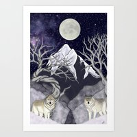 guardians Art Prints featuring Guardians by Yoly B. / Faythsrequiem