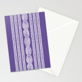 Cable Stripe Violet Stationery Cards