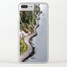 The Sea Wall  in Vancouver, Canada Clear iPhone Case