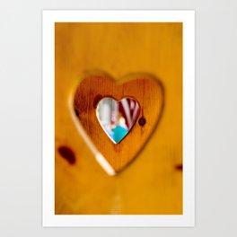 Wooden Hearts Art Print