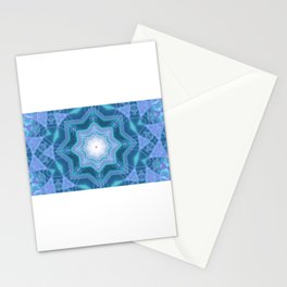 Star shaped neon dots 3d illustration kalaidoscope Stationery Cards
