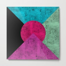 Colorful Abstract Geometric Background Metal Print