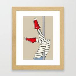 CONVERSE POLE DANCE Framed Art Print