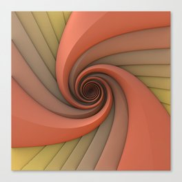 Spiral in Earth Tones Canvas Print