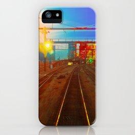The Past Train 2 Square iPhone Case