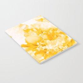 Beautiful Peony Flowers White Background #decor #society6 #buyart Notebook
