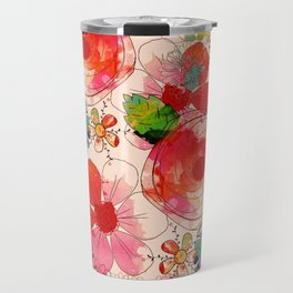 joyful floral decor Travel Mug